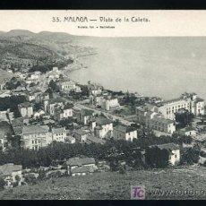Postales: TARJETA POSTAL MALAGA, VISTA DE LA CALETA. Nº 33. Lote 13172576