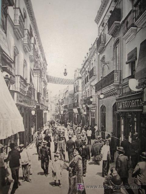 Sevilla calle sierpes comprar postales antiguas de - Calle correduria sevilla ...