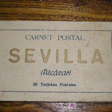 Postales: ESPAÑA SEVILLA ALCAZAR ANTIGUO LIBRILLO CON 20 TARJETAS POSTALES. Lote 27580612