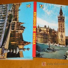Postales: 12 ANTIGUAS POSTALES DESPLEGABLES DE SEVILLA, FLOR DEL GUADALQUIVIR.. Lote 27096558