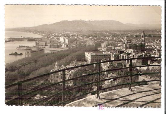 TARJETA POSTAL DE MALAGA. Nº 227. VISTA PARCIAL. FOTO DIEGO CORTES - MALAGA. (Postales - España - Andalucía Antigua (hasta 1939))