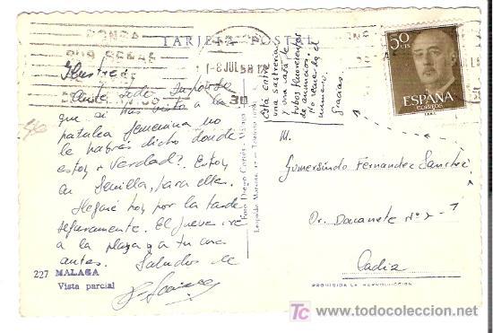 Postales: TARJETA POSTAL DE MALAGA. Nº 227. VISTA PARCIAL. FOTO DIEGO CORTES - MALAGA. - Foto 2 - 13525879