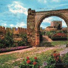 Postales: ALMERIA.ALCAZABA.VISTA PARCIAL Y ARCO ROMANO.POSTAL CIRCULADA.. Lote 5157291
