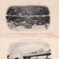 Postales: LOTE DE 10 POSTALES DE JEREZ. TODOS DE GONZALEZ BYASS Y Cº.-VEA LAS FOTOS ADICIONALES. Lote 23859397