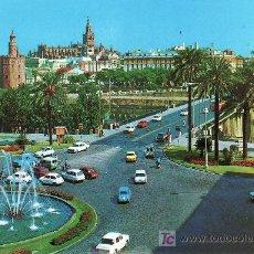 Postales: SEVILLA. PLAZA DE CUBA .POSTAL CIRCULADA EN 1974-VER FOTO ADICIONAL.. Lote 26121443
