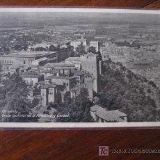 Postales: VISTA GENERAL DE LA ALHAMBRA Y CIUDAD. Lote 5503487