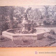 Postales: POSTAL DE PRINCIPIOS DE SIGLO XX. 1911. FUENTE DEL PARQUE DE MÁLAGA. HAUSER Y MENET. . Lote 5999232