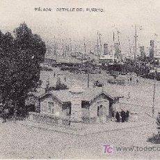 Postales: MALAGA. DETALLE DEL PUERTO. NO CIRCULADA.FOTOTIPIA DE HAUSER Y MENET.MADRID. Lote 22080574