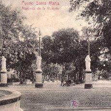 Postales: PUERTO DE SANTA MARIA.ALAMEDA DE LA VICTORIA.CIRCULADA-VER FOTO ADICIONAL. Lote 21477276
