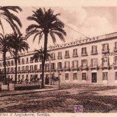 Postales: GRAND HOTEL D'ANGLETERRE.SEVILLA- VER FOTO ADICIONAL.. Lote 24912597