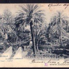Postales: SEVILLA * JARDINES ALCAZAR * CIRCULADA 1905 * REVERSO NO-DIVIDIDO . Lote 6095312