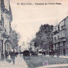 Postales: MALAGA.ALAMEDA DE CARLOS HAES. NO CIRCULADA.. Lote 32138849