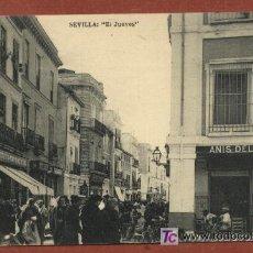 Postales: SEVILLA. EL JUEVES. NUEVA, SIN CIRCULAR. FOTOTIPIA DE HAUSER Y MENET. MERCADO. Lote 26758414