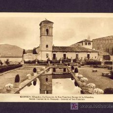 Postales: POSTAL DE GRANADA: ALHAMBRA, EX-CONVENTO DE SAN FRANCISCO SECANO (ROISIN). Lote 7115911