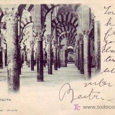 Postales: LA MEZQUITA DE CORDOBA: 741 DE HAUSER Y MENET. CIRCULADA 1903 AMBULANTE MALAGA. LLEGADA A ALEMANIA.. Lote 26074096