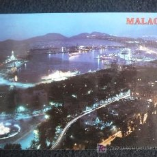 Postales: MALAGA. VISTA NOCTURNA. SIN CIRCULAR. Lote 7482170