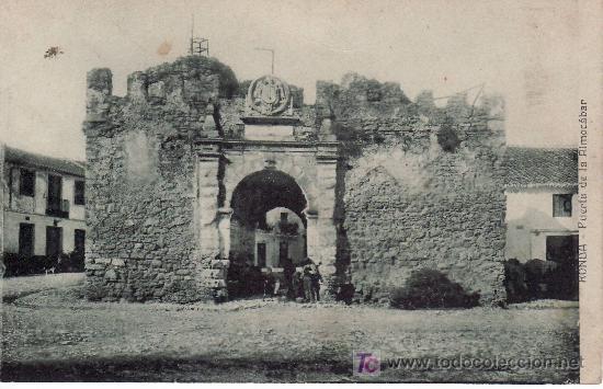 RONDA. PUERTA DE LA ALMOCABAR. NO CIRCULADA. EDICION BAZAR LA ALIANZA. (Postales - España - Andalucía Antigua (hasta 1939))