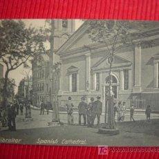 Postales: POSTAL DE GIBRALTAR. -SPANISH CATHEDRAL. ANIMADA. V. B. CUMBO, GIBRALTAR. SIN CIRCULAR.. Lote 25313376