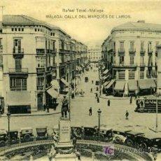 Postales: POSTAL MALAGA CALLE DEL MARQUES DE LARIOS. Lote 7607563
