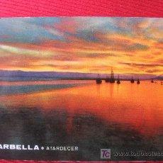 Postales: MARBELLA - ATARDECER. Lote 7695446