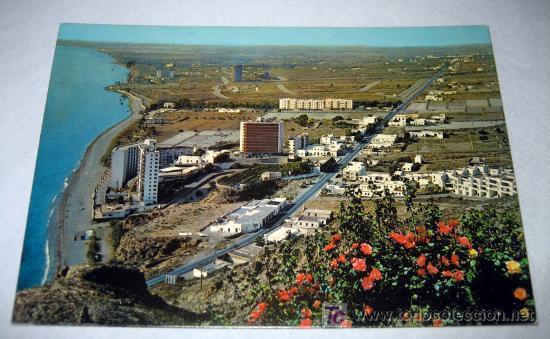 ANTIGUA Y PRECIOSA POSTAL DE AGUADULCE ALMERIA - CIRCULADA - AÑO 1978 - (Postales - España - Andalucia Moderna (desde 1.940))