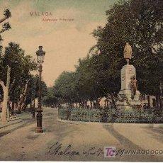 Postales: MALAGA. ALAMEDA PRINCIPAL, CRCULADA 1911.. Lote 32138869