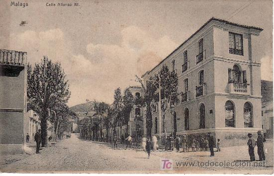MALAGA. MALAGA. CALLE ALFONSO XIII.CIRCULADA. (Postales - España - Andalucía Antigua (hasta 1939))