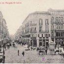 Postales: MALAGA. CALLE DEL MARQUES DE LARIOS.INTERESANTE POSTAL CON GANADO EN LA CALLE. Lote 27543965