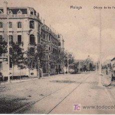 Postales: MALAGA. OFICINA DE LOS FEROCARILES ANDALUCES.CIRCULADA 1915. VIUDA FERRER PAPELERIA CATALANA.. Lote 27617649