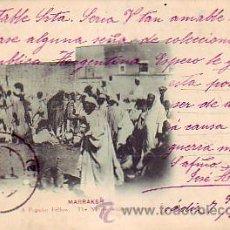 Postales: PRECIOSA Y RARA POSTAL DE MARRUECOS CIRCULADA 1903 DE CADIZ A MONTEVIDEO (URUGUAY). LLEGADA.. Lote 21824809
