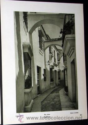 CALLE ARCOS, DE ARCOS DE LA FRONTERA (CADIZ) EXPOSICIÓN INTERNACIONAL BARCELONA PUEBLO ESPAÑOL (Postales - España - Andalucía Antigua (hasta 1939))