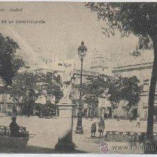 Postales: POSTAL DE CADIZ PLAZA DE LA CONSTITUCION HAUSER Y MENET. Lote 8124992