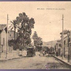 Postales: TARJETA POSTAL DE MALAGA. PASEO DE LA CALETA. FOTOTIPIA DE HAUSER Y MENET.- MADRID. . Lote 13172606