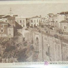 Postales: POSTAL DE MALAGA. RONDA. EL TAJO DESDE EL PUENTE NUEVO. Lote 8618143