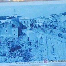 Postales: POSTAL DE MALAGA. RONDA. EL TAJO SOBRE EL PUENTE NUEVO. Lote 8618204
