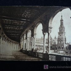 Postales: PLAZA DE ESPAÑA. SEVILLA. 1943 CIRCULADA. 8X13. Lote 11283272