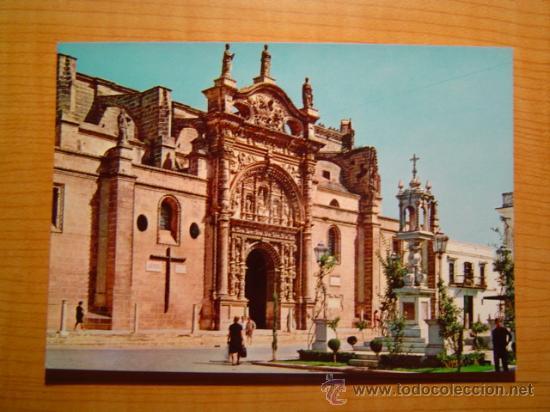 POSTAL PUERTO DE SANTA MARIA IGLESIA MAYOR PRIORAL SIN CIRCULAR (Postales - España - Andalucia Moderna (desde 1.940))