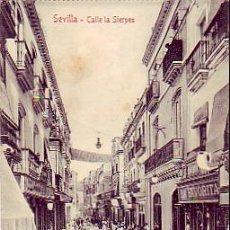 Postales: SEVILLA: CALLE DE LA SIERPES, SIN CIRCULAR. COLECCION M. CHAPARTEGUY.. Lote 21824812