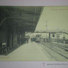 Postales: TARJETA POSTAL HUELVA - ESTACION DE RIO TINTO - PAPELERIA INGLESA TRENES. Lote 9348412