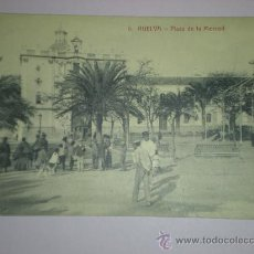 Postales: TARJETA POSTAL HUELVA - PLAZA DE LA MERCED Nº 6 - PAPELERIA MORA. Lote 9348517