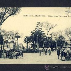 Postales: POSTAL DE JEREZ DE LA FRONTERA (CADIZ): ALAMEDA DE FORTUN DE TORRES (ED.LA CONCEPCION) (ANIMADA). Lote 9524767