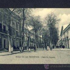 Postales: POSTAL DE JEREZ DE LA FRONTERA (CADIZ): CALLE DE SAGASTA (ED.LA CONCEPCION) (ANIMADA). Lote 9524776