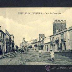 Postales: POSTAL DE JEREZ DE LA FRONTERA (CADIZ): CALLE DE CANALEJAS (ED.LA CONCEPCION) (ANIMADA). Lote 9524787