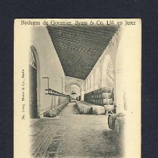Postales: POSTAL DE JEREZ DE LA FRONTERA (CADIZ): BODEGAS GONZALEZ BYASS. DEPTO.ENVASAR VASIJAS (MANES 21103). Lote 9524805
