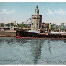 Postales: SEVILLA.MUELLE Y TORRE DEL ORO.C.R.S. 85. NO CIRCULADA. Lote 17560575