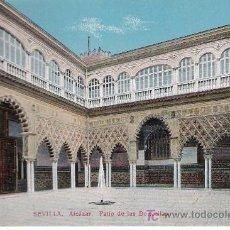 Postales: SEVILLA.ALCÁZAR.PATIO DE LAS DONCELLAS. C.R.S. 55. NO CIRCULADA. Lote 17560576