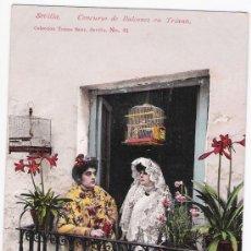 Postales: SEVILLA. CONCURSO DE BALCONES EN TRIANA. TOMÁS SANZ Nº 91. NO CIRCULADA. Lote 14810117