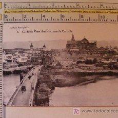 Postales: POSTAL DE CÓRDOBA. VISTA DESDE LA TORRE DE CARRAOLA. PUENTE ROMANO GUADALQUIVIR. 1910-1920. . Lote 9571875