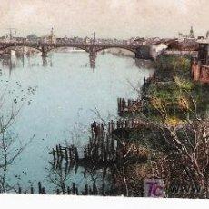 Postales: SEVILLA. TRIANA Y PUENTE ISABEL II. FECHADA EN 1909. Lote 14810140