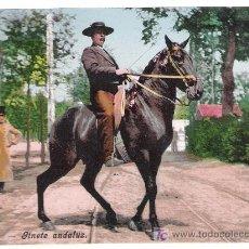 Postales: SEVILLA. JINETE ANDALUZ. COL. TOMÁS SANZ. ANTERIOR A 1906. NO CIRCULADA. Lote 14810170